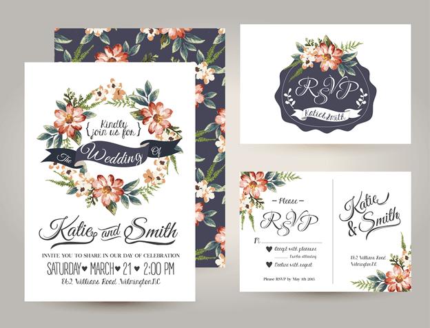 wedding-invitation-card-suite-daisy-flower