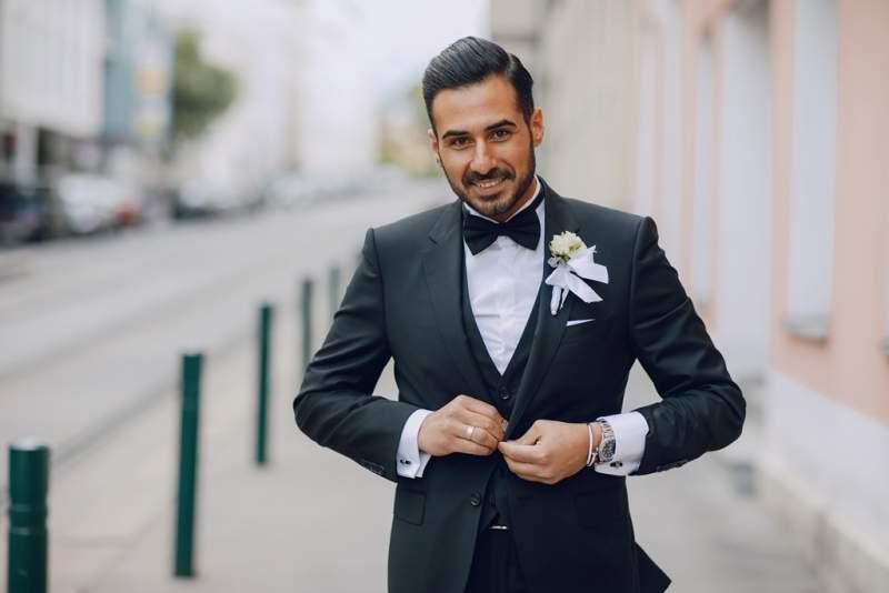Groom Preparation for Wedding